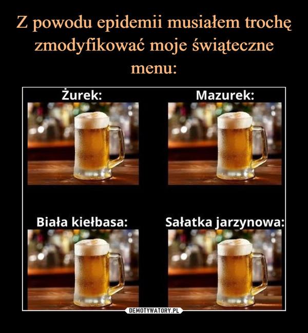 –  Żurek Mazurek Biała kiełbasa sałatka jarzynowa