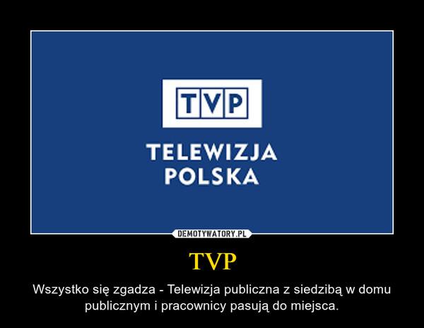 TVP – Wszystko się zgadza - Telewizja publiczna z siedzibą w domu publicznym i pracownicy pasują do miejsca.