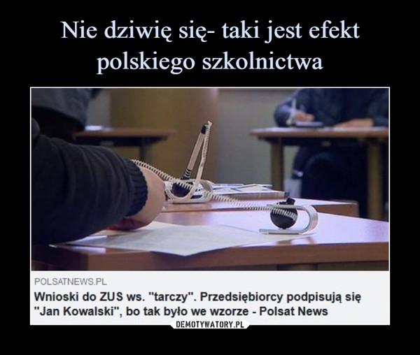 """–  Wnioski do ZUS ws. """"tarczy"""". Przedsiębiorcy podpisują się """"Jan Kowalski"""", bo tak było we wzorze - Polsat News"""
