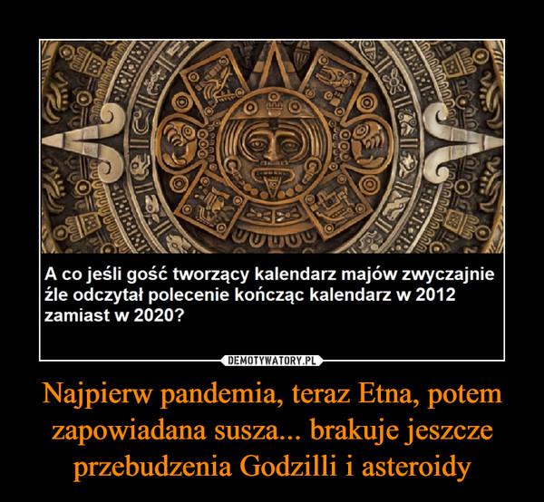 Najpierw pandemia, teraz Etna, potem zapowiadana susza... brakuje jeszcze przebudzenia Godzilli i asteroidy –