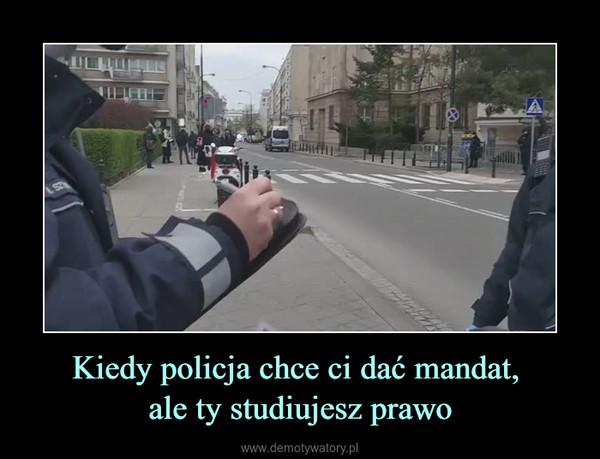 Kiedy policja chce ci dać mandat, ale ty studiujesz prawo –