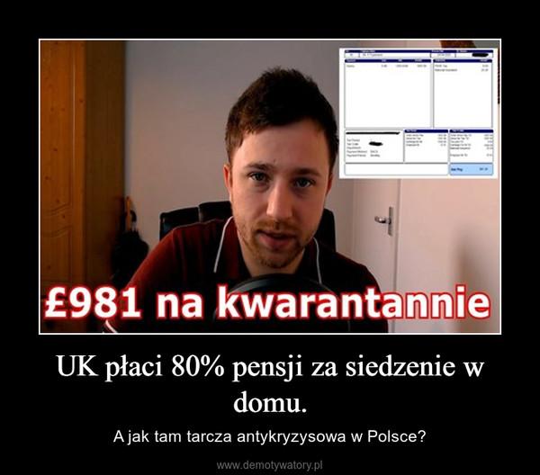 UK płaci 80% pensji za siedzenie w domu. – A jak tam tarcza antykryzysowa w Polsce?
