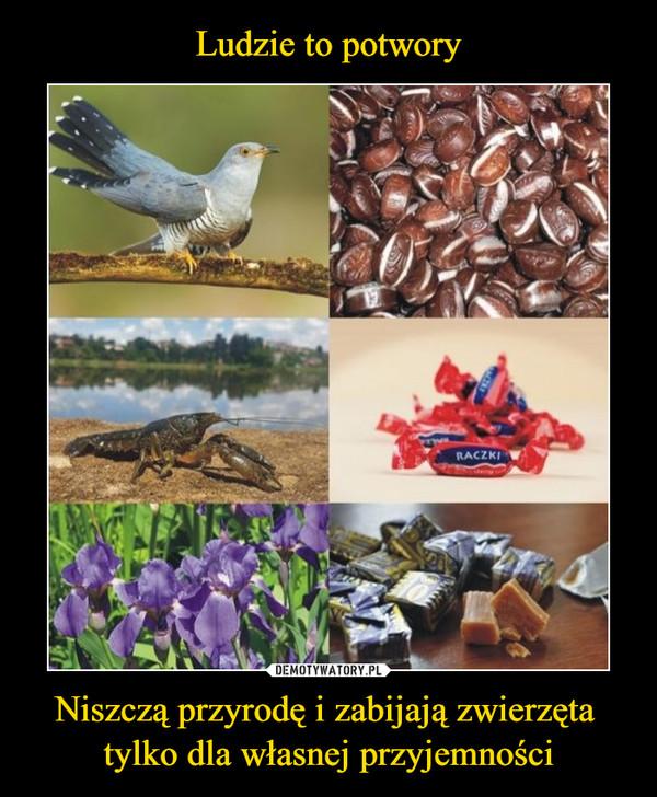 Niszczą przyrodę i zabijają zwierzęta tylko dla własnej przyjemności –