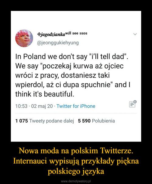 Nowa moda na polskim Twitterze. Internauci wypisują przykłady piękna polskiego języka