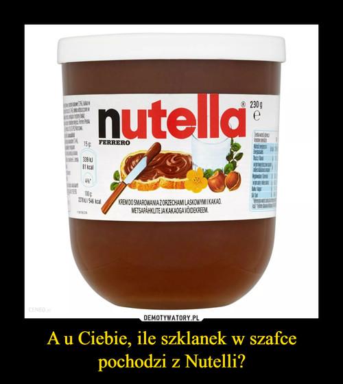 A u Ciebie, ile szklanek w szafce pochodzi z Nutelli?