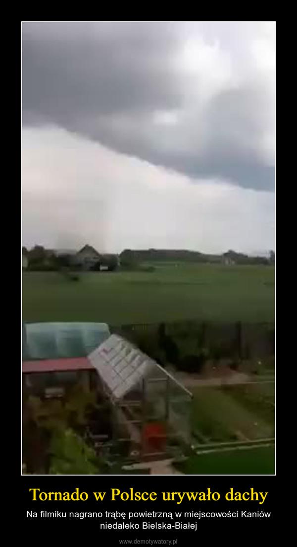 Tornado w Polsce urywało dachy – Na filmiku nagrano trąbę powietrzną w miejscowości Kaniów niedaleko Bielska-Białej