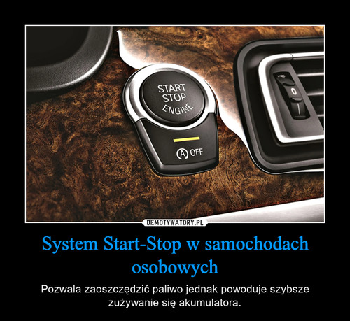 System Start-Stop w samochodach osobowych