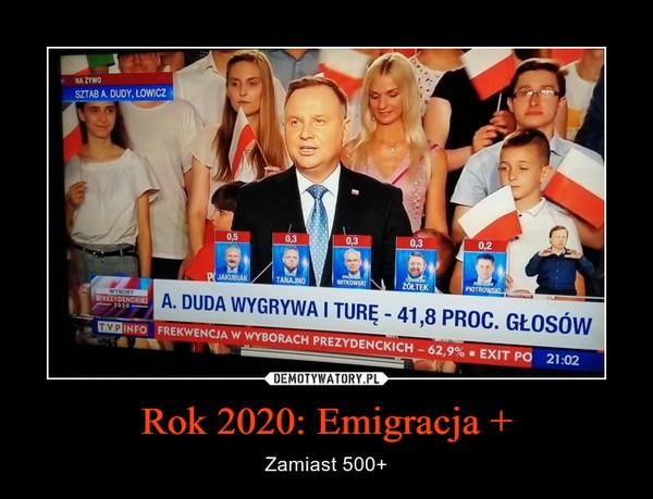 Rok 2020: Emigracja + – Zamiast 500+