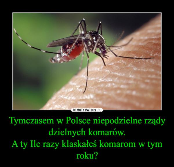 Tymczasem w Polsce niepodzielne rządy dzielnych komarów.A ty Ile razy klaskałeś komarom w tym roku? –