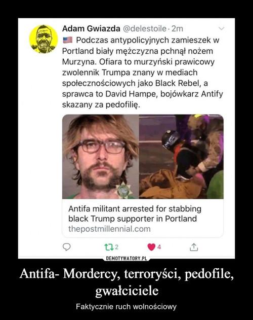 Antifa- Mordercy, terroryści, pedofile, gwałciciele