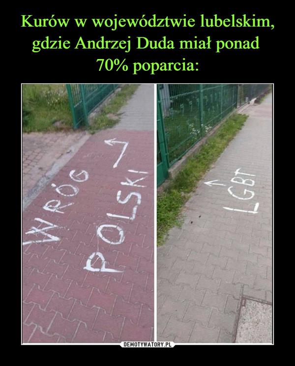 Kurów w województwie lubelskim, gdzie Andrzej Duda miał ponad  70% poparcia: