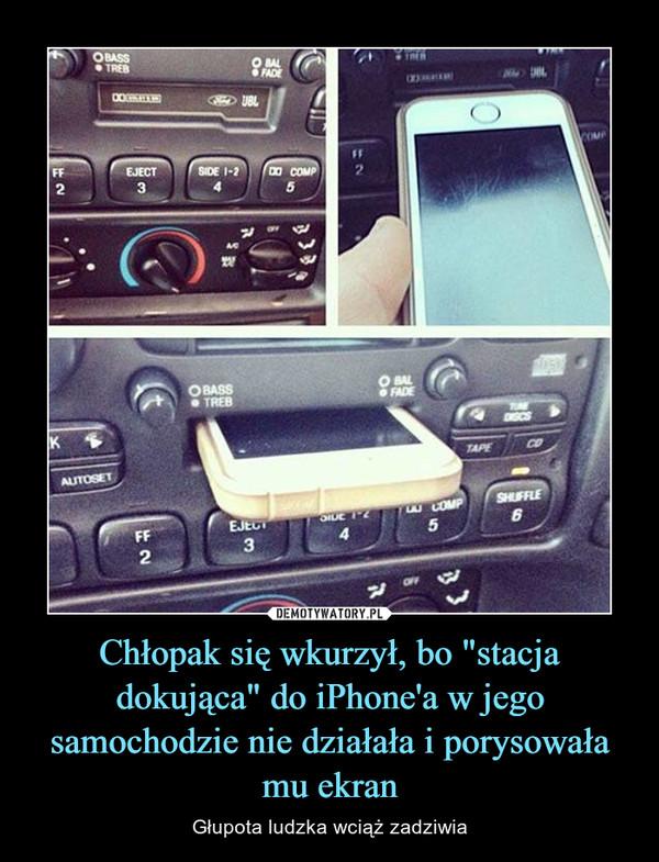 """Chłopak się wkurzył, bo """"stacja dokująca"""" do iPhone'a w jego samochodzie nie działała i porysowała mu ekran – Głupota ludzka wciąż zadziwia"""
