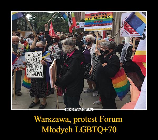 Warszawa, protest Forum Młodych LGBTQ+70 –