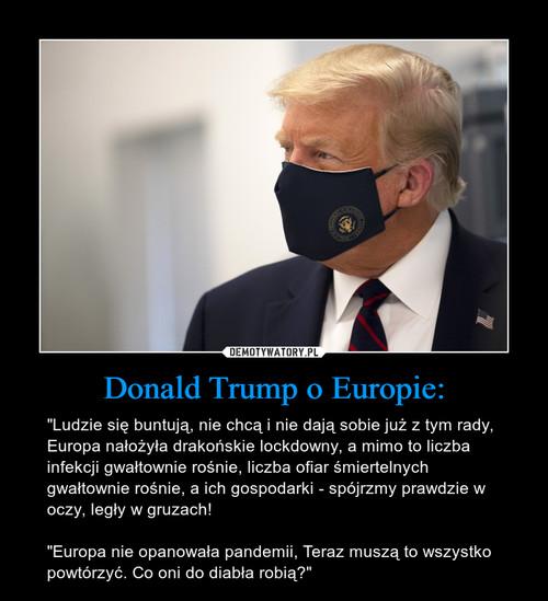 Donald Trump o Europie: