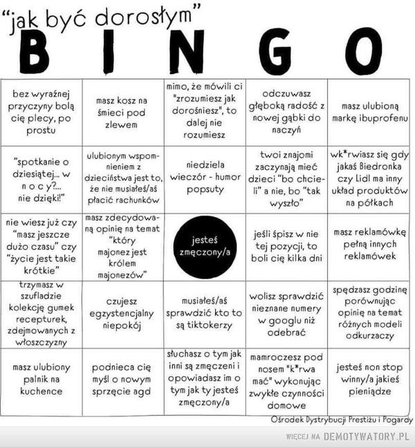 Bingo dla dorosłych –