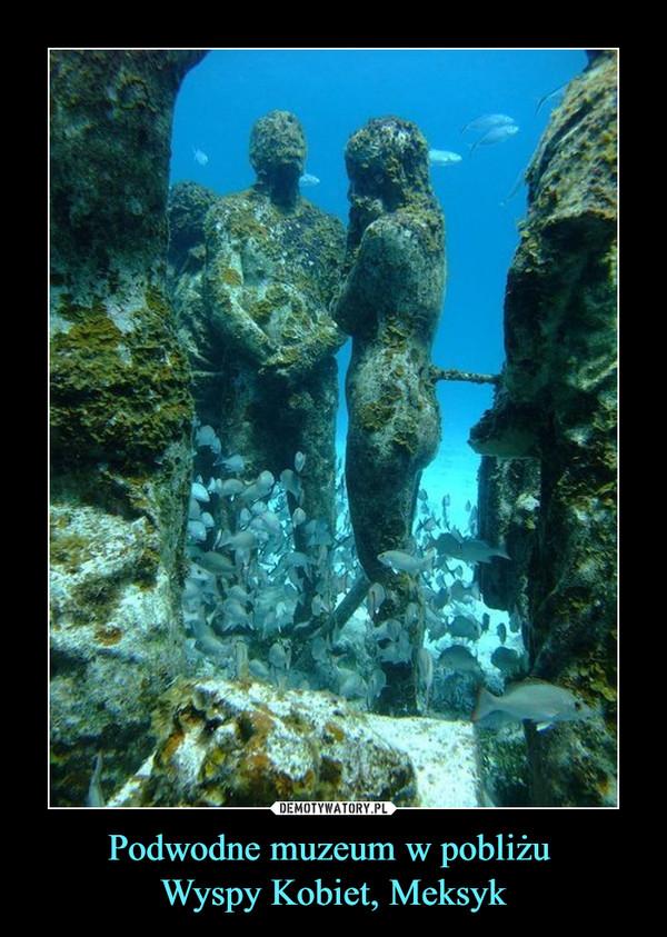 Podwodne muzeum w pobliżu  Wyspy Kobiet, Meksyk