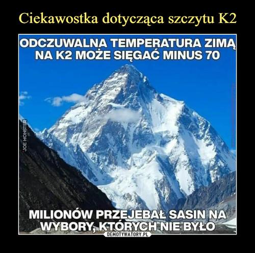 Ciekawostka dotycząca szczytu K2