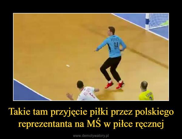 Takie tam przyjęcie piłki przez polskiego reprezentanta na MŚ w piłce ręcznej –