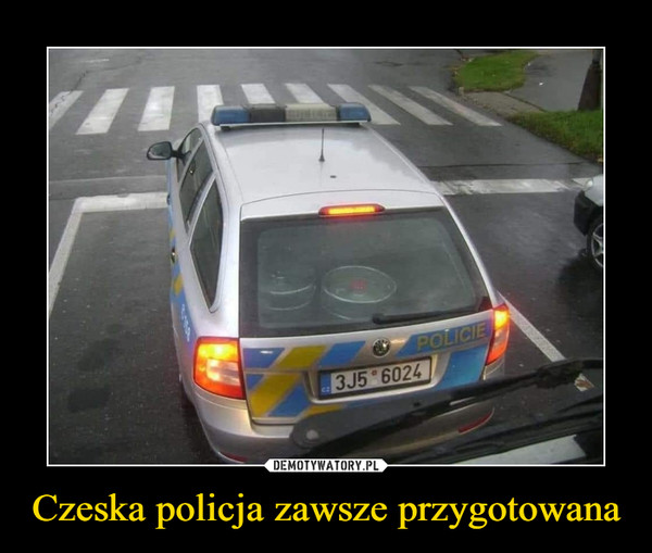 Czeska policja zawsze przygotowana –