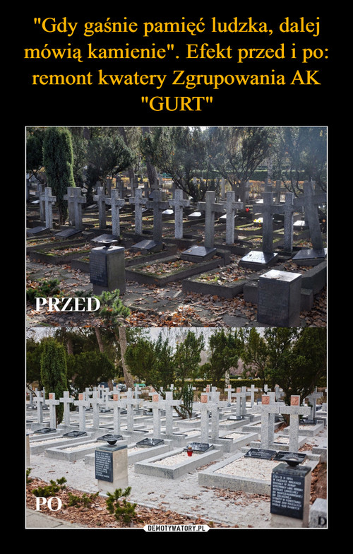 """""""Gdy gaśnie pamięć ludzka, dalej mówią kamienie"""". Efekt przed i po: remont kwatery Zgrupowania AK """"GURT"""""""