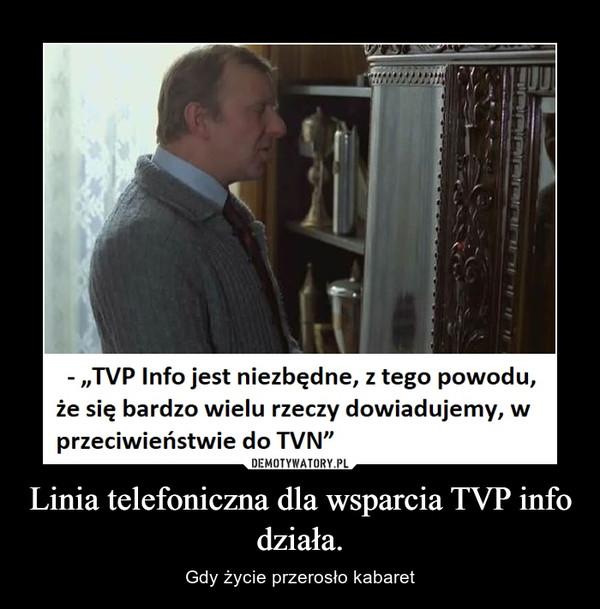 Linia telefoniczna dla wsparcia TVP info działa. – Gdy życie przerosło kabaret