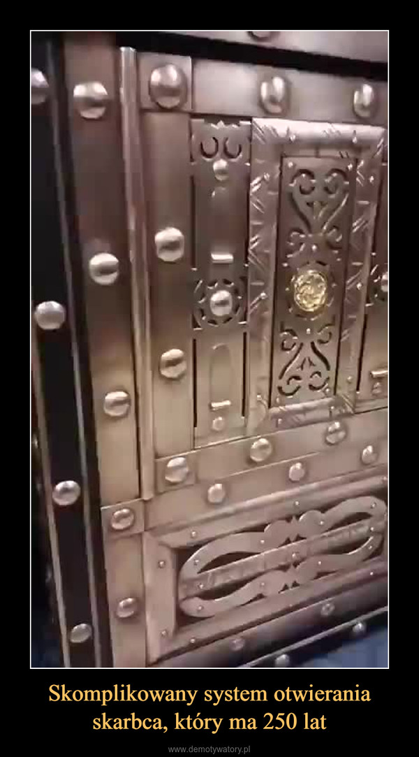 Skomplikowany system otwierania skarbca, który ma 250 lat –