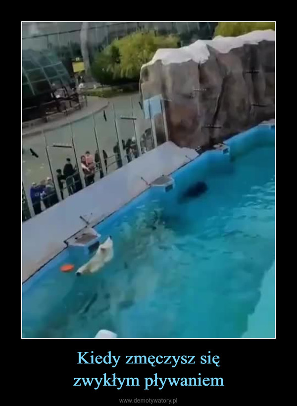 Kiedy zmęczysz sięzwykłym pływaniem –