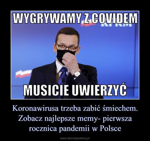 Koronawirusa trzeba zabić śmiechem. Zobacz najlepsze memy- pierwsza rocznica pandemii w Polsce