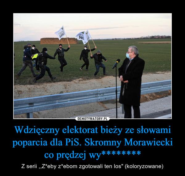 """Wdzięczny elektorat bieży ze słowami poparcia dla PiS. Skromny Morawiecki co prędzej wy******** – Z serii ,,Z*eby z*ebom zgotowali ten los"""" (koloryzowane)"""