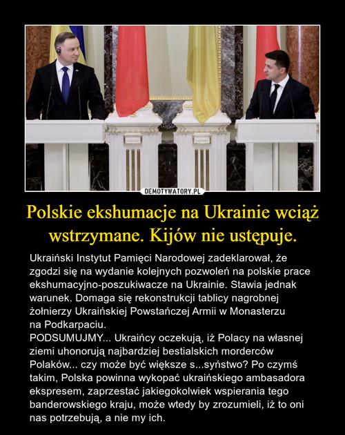 Polskie ekshumacje na Ukrainie wciąż wstrzymane. Kijów nie ustępuje.