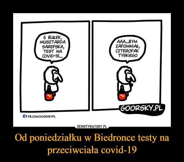 Od poniedziałku w Biedronce testy na przeciwciała covid-19 –