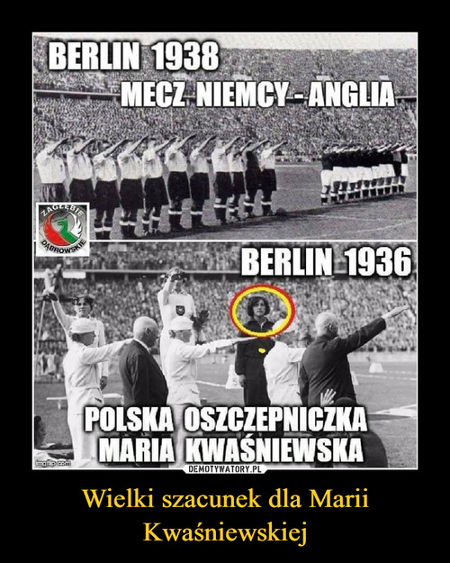 Wielki szacunek dla Marii Kwaśniewskiej