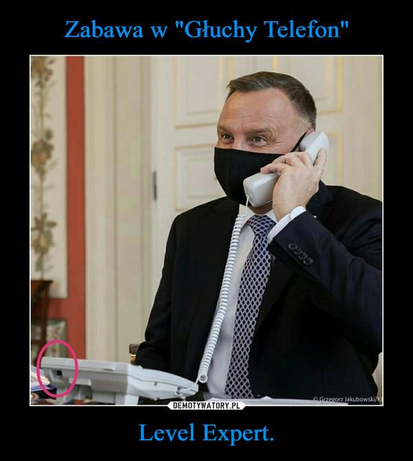 """Zabawa w """"Głuchy Telefon"""" Level Expert."""