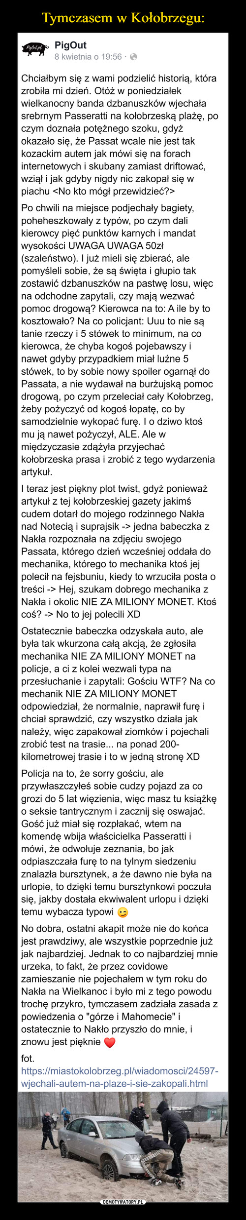 Tymczasem w Kołobrzegu: