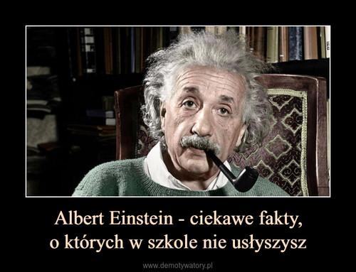 Albert Einstein - ciekawe fakty, o których w szkole nie usłyszysz