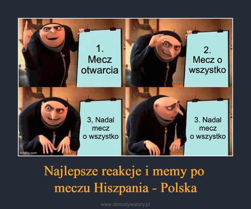 Najlepsze reakcje i memy po  meczu Hiszpania - Polska