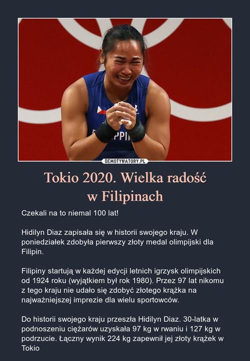 Tokio 2020. Wielka radość w Filipinach