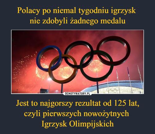 Polacy po niemal tygodniu igrzysk  nie zdobyli żadnego medalu Jest to najgorszy rezultat od 125 lat, czyli pierwszych nowożytnych  Igrzysk Olimpijskich