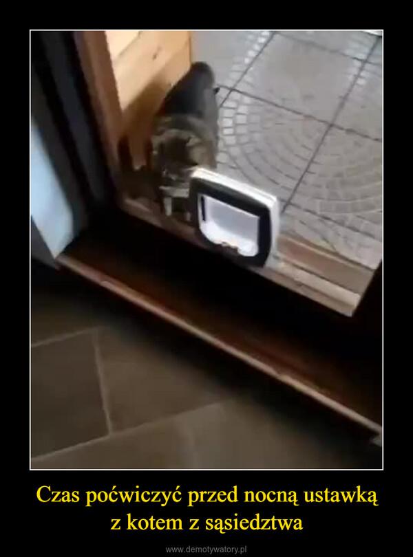 Czas poćwiczyć przed nocną ustawkąz kotem z sąsiedztwa –